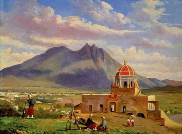 Soldados Franceces en el Obispado Conrad Wise Chapman 1865 Oleo sobre Madera Muse Nacinoal de Historia Conaculta