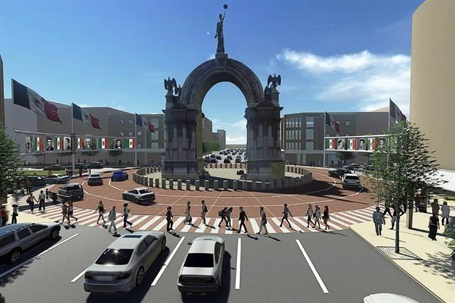 Maqueta del proyecto de rescate del Arco de la Independencia