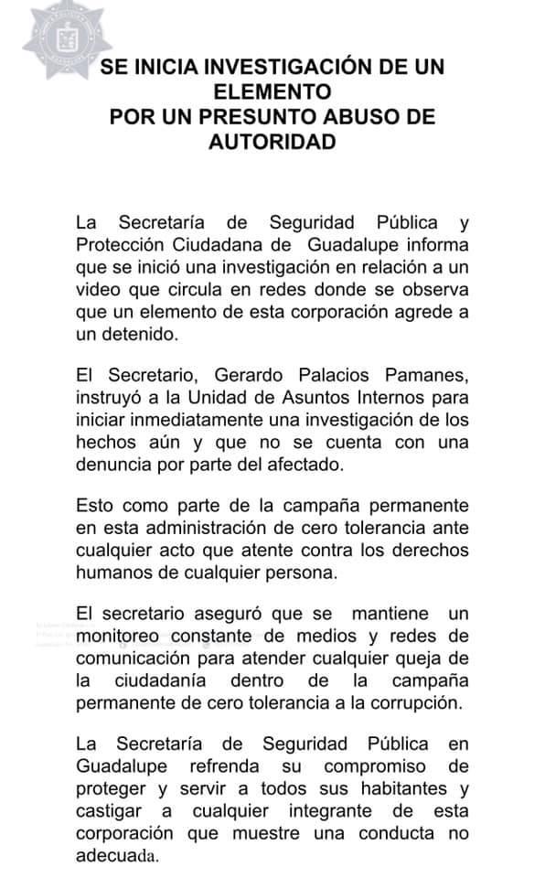 comunicado-guadalupe-abuso-policial