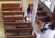 video-roban-limosna-iglesia