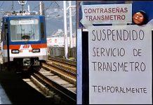 Transmetro y Metro serán suspendidos