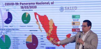 Van 164 casos confirmados de coronavirus en México