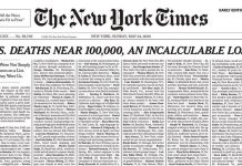 The New York Times rinde homenaje a víctimas de COVID-19