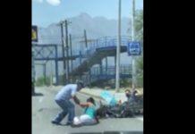 "(Video) Mujer ""choca"" con motociclista"