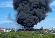 Se incencia fábrica de acero en Guadalupe