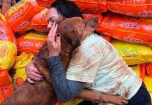 (Viral) Firulais recibe con tierno abrazo a mujer que le llevó comida