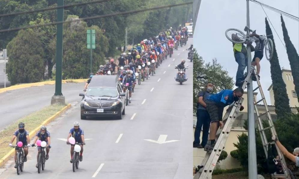 Así despidieron familiares y amigos a ciclista sampetrina