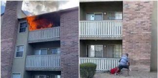 [Video] Madre arroja a su bebé para salvarlo de un incendio en Arizona
