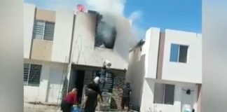 Así fue el incendio que consumió casa de bombero