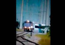 Chocan tren y tráiler en carretera Santa Rosa-Mezquital