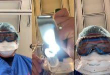 Médico simula en video lo que es estar intubado por COVID-19