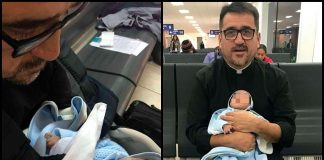 iQué buen corazón! Sacerdote adopta a bebé con síndrome de Down