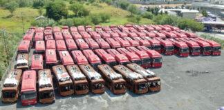 ecovia camiones abandonados monterrey